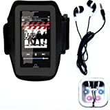 Cuffu Excellent Armband for ipod touch 1st and 2nd generation 8GB 16GB and 32GB Models with ipod earphone for iPod Touch Nano Video Classic And a FREE Screen Protector With One GREAT LOWEST shipping rate