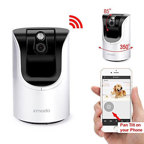 Zmodo 720p HD Wireless WiFi Network 350° Pan 85° Tilt Smar