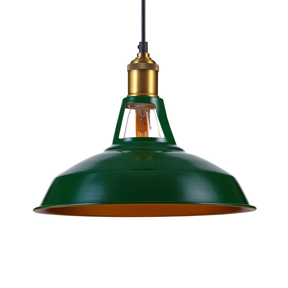Kiven Industrial Barn Pendant Light Vintage Green Retro Hanging Light Warehouse Lighting Pendant Lighting For Kitchen Island 1