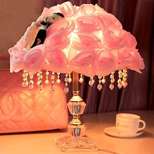 guo hochzeit tischlampe schlafzimmer hochzeitszimmer nachttischlampe rosa rose blume lampe. Black Bedroom Furniture Sets. Home Design Ideas