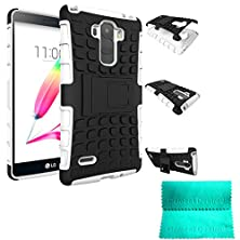 buy Lg G Stylo Case,Moment Dextrad *New* [Non-Slip][Perfect Fit][Stand Function] Hybrid Dual Layer Armor Defender Protective Case Cover Only For Lg G Stylo / Lg G Stylus Ls770 *Three Months Warranty* (White)