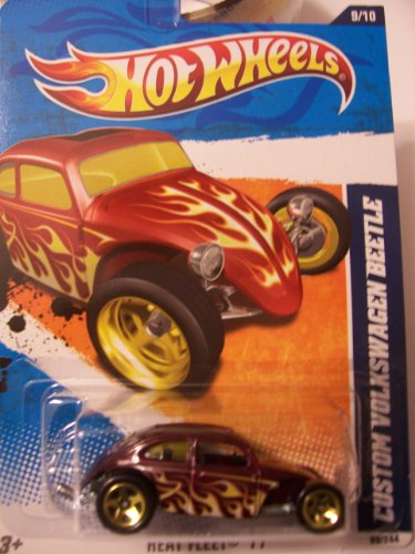 Hot Wheels Heat Fleet '11 9/10 Custom Volkswagen Beetle 99/244 Purple with Flames