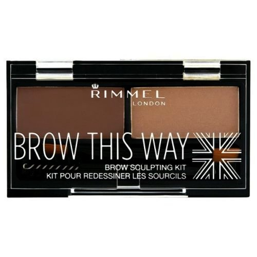 (3 Pack) RIMMEL LONDON Brow This Way Brow Sculpting Kit - Medium Brown