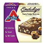 Atkins Endulge Bars Nutty Fudge Brown...