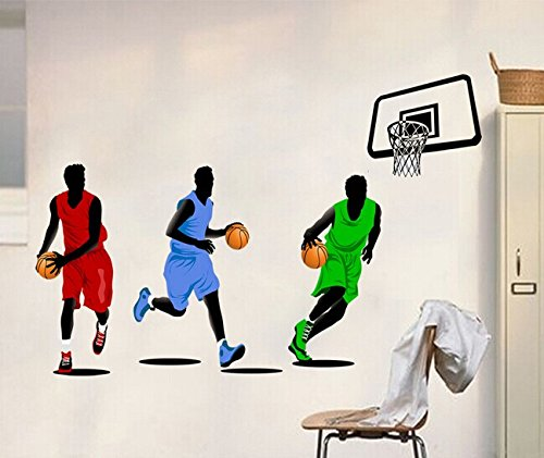 Home Wall Decor Decals Poster House Wall Stickers Quotes Removable Vinyl Large Wall Sticker For Kids Rooms Stickers Basketball Player W-437 front-525575