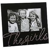 """The Girls"" Black Glass /Crystal Frame 15cm x 10cm (6"" x 4"")"