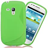 Samsung Galaxy S3 Mini i8190 Gel Wave Grip S-Line Green Protective Case Cover By Tech Protect