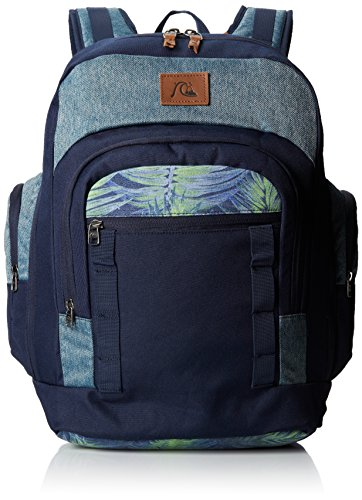 Quiksilver, Zaino Uomo Clampdown, Blu (Deep Jungle Dark Denim), 24 x 60 x 80 cm, 34 litri