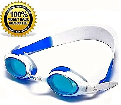 Phaze Sports® FAMOUS CHILDREN'S SWIMMING GOGGLES wIth Blue Tint / Anti Fog Lenses and EXTRA THICK HEADBAND For NO MORE TANGLED HAIR! ? 100% RISK FREE or Money Back Guarantee - Voted Best Swimming Goggles By Consumers - 100% UV Protection Lenses For Adults
