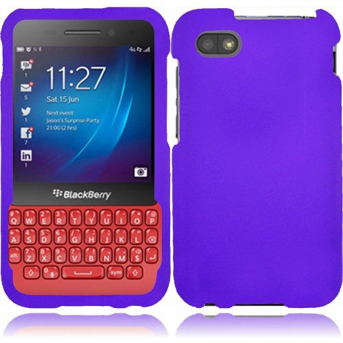 Cell Accessories For Less (Tm) For Blackberry Q5 Rubberized Cover Case - Purple - By Thetargetbuys *Free Shipping*