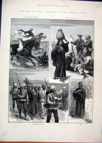 1882 War Egypt Bedouins Prisoners Camp Spy Horses