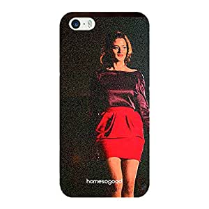 HomeSoGood Red Hot Fashion Diva 3D Mobile Case For iPhone 5 / 5S (Back Cover)