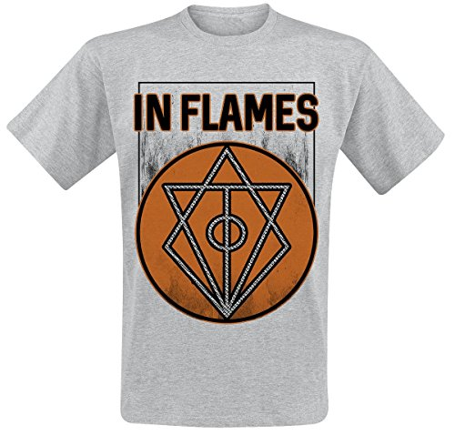 In Flames Vintage Circle Filled T-Shirt grigio sport L