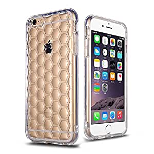 For iPhone 6S And 6 Case, Roybens Clear Shockproof 3mm Thick Flexible Rugged Protective Durable Soft TPU Hybrid High Impact Armor Defender Case Cover for Apple iPhone 6 and 6S(4.7 inch)(Cellular)