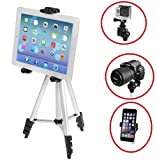 iKross 41-inch Portable Light weight Tripod with Adapters for Gopro HERO - Apple iPhone - iPad - Samsung Smartphone - Tablet - Digital Camera and more