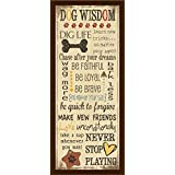 FRAMED Dog Wisdom by Jo Moulton 10x4 Art Print Poster Wall Decor Gift Signs Sayings Dogs Animals Cute