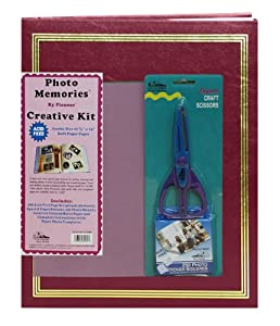 Pioneer 11 3/4 Inch by 14 Inch Postbound Jumbo 100 Page Memory Book Kit, Burgundy