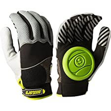 Sector 9 Apex 2014 Longboard Skateboard Slide Gloves Black / Grey / Green Size L/XL With Slide Pucks