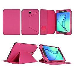 Tab A 8.0 Case - Bear Motion Premium Folio Case for 8 inch Samsung Galaxy Tab A 8.0 - Pink