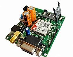 ELEMENTZ SIM800 GSM MODEM MODULE HIGH QUALITY BOARD WITH SMA ANTENNA ( RS232 & TTL output )