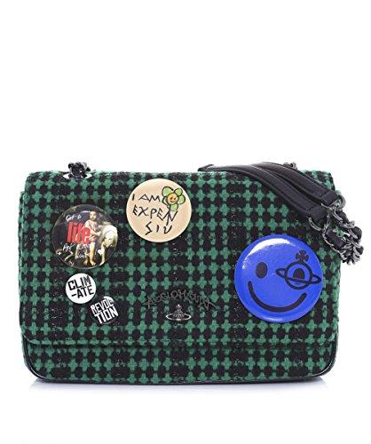 Vivienne Westwood Accessories Da Donna Borsa a spalla in lana Avon Green Unica Taglia