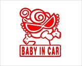 Amazon.co.jpBABY IN CAR ギャング 赤 カッティングステッカー ウォールステッカー ステッカー