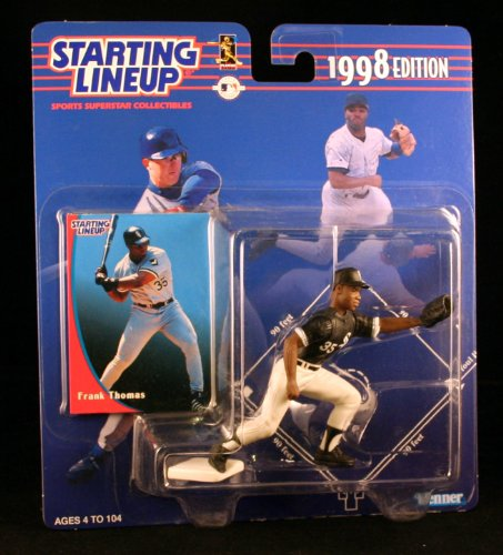 FRANK THOMAS / CHICAGO WHITE SOX 1998 MLB Starting Lineup Action Figure & Exclusive Collector Trading Card - 1