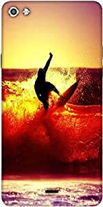 Snoogg Surfer Style Designer Protective Back Case Cover For Micromax Canvas Silver 5 Q450