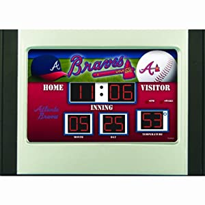 Atlanta Braves Scoreboard Desk & Alarm Clock by Caseys