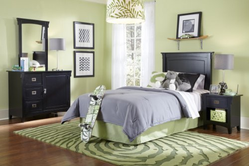 Powell Furniture Mission Bedroom in a Box, Black
