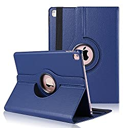 Wellmart Premium 360 Degree Rotating PU Leather Flip Case For Apple iPad Pro 9.7 Inch (Blue)