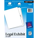 Avery Premium Collated Legal Exhibit Divider Set, Avery Style, 26-50 and Table of Contents, Side Tab, 8.5 x 11 Inches, 1 Set (11372)
