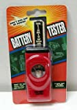 Red Analog Universal Handheld Battery Tester - Tests all Types of Batteries