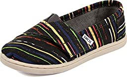 Toms - Tiny Slip-On Shoes In Black Multi Stripe, Size: 4 M US Toddler, Color: Black Multi Stripe