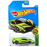 Hot Wheels 2017 HW Exotics Lamborghini Veneno 165/365, Neon Green (Color: Green)