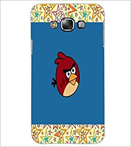 PrintDhaba angry bird D-4744 Back Case Cover for SAMSUNG GALAXY A7 (Multi-Coloured)