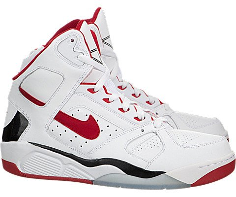 Nike Air Flight Lite High Mens Basketball Shoes 329984-103 White University Red-Black 10.5 M US