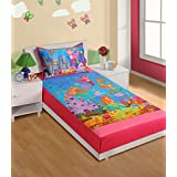 Swayam Kids N More Digital Print Cotton Single Baby Bedsheet With 1 Pillow Cover - Multicolor (SKB02-190)