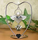 Paw Prints On My Heart Hanging Ornament Angel with Paw Charm and Heart Stand