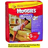 Huggies Little Movers Diapers, 27+ lbs Jumbo Pack,, Size 5 23 ea