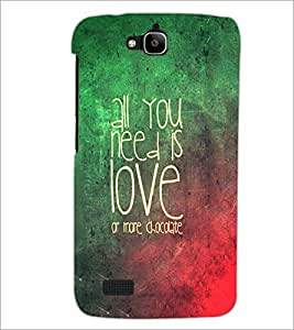 PrintDhaba Quote D-3472 Back Case Cover for HUAWEI HONOR HOLLY (Multi-Coloured)