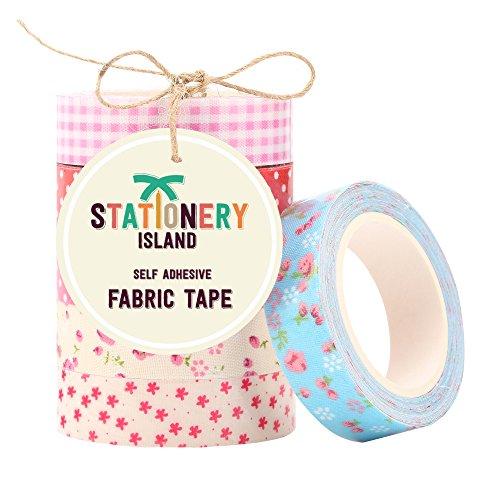 nastro-adesivo-decorativo-di-tessuto-per-scrapbooking-confezione-da-6-fantasie-miste-rosa-vivo-rosso