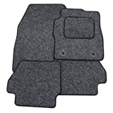 Custom Fit Tailor Made Anthracite Carpet Car Mats with Black Trim for Toyota Auris (2006 Onwards) - Double Drivers Side Protection Heel Pad