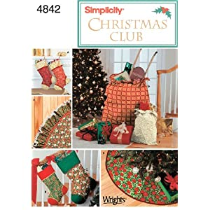 Simplicity Sewing Pattern 4842 Holiday Décor, One Size