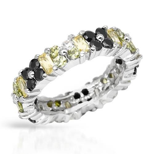 Eternity Ring With 6.90ctw Cubic zirconia 925 Sterling silver (Size 5.5)