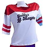 Suicide Squad スーサイド・スクワッド風 ハーレークイン 女性 ピエロ ジョーカーTシャツ コスプレ衣装 ハロウィーン(L)