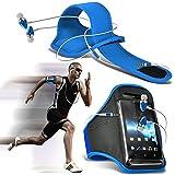 ( Baby Blue ) HTC J Sports corsa Jogging Sbarazzamento Bike Cycling Gym fascia di braccio del sacchetto di caso...