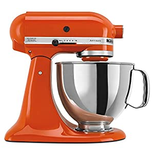 KitchenAid KSM150PSPN 5-Qt. Artisan Series with Pouring Shield - Persimmon