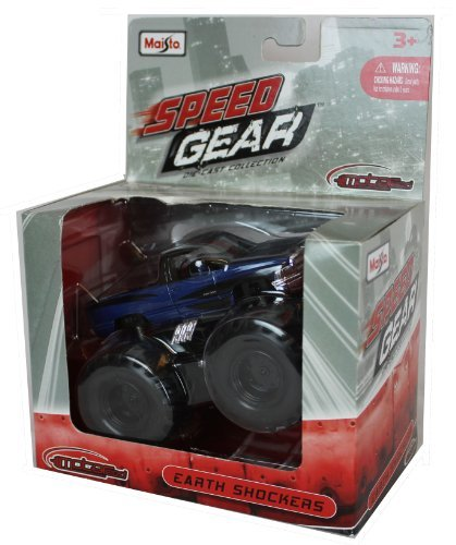 "Maisto Speed Gear Die-Cast 4"" Earth Shockers Motorized Deep Blue Pickup Truck"