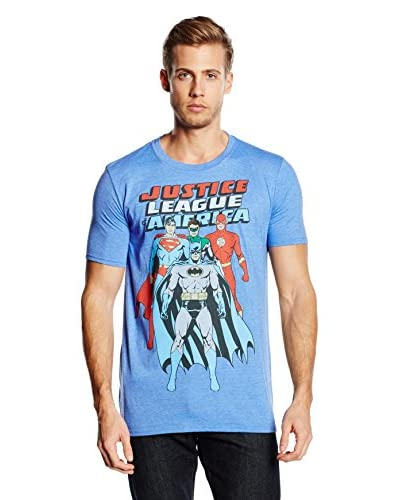 DC COMICS T-Shirt Manica Corta Justice League Of America [Blu]